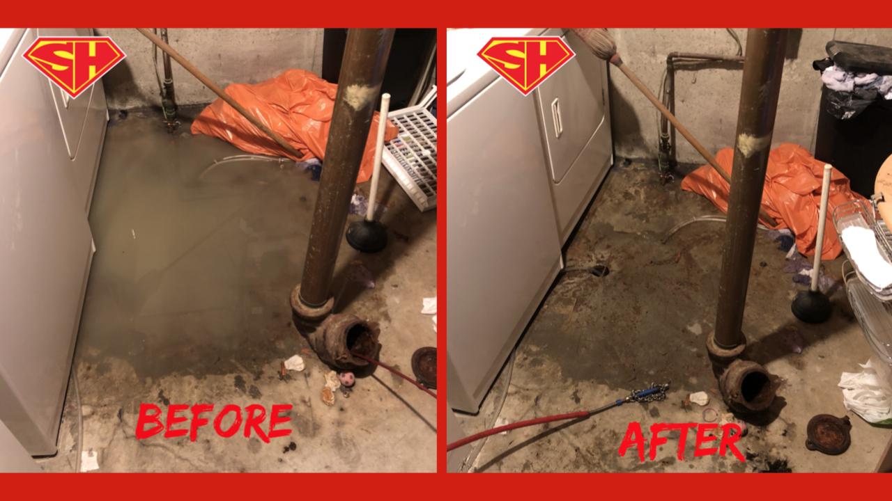 Edgemont sewer backup repair